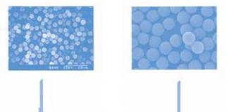 Tospearl (Polymethylsilsesquioxane)- microscopic pictures